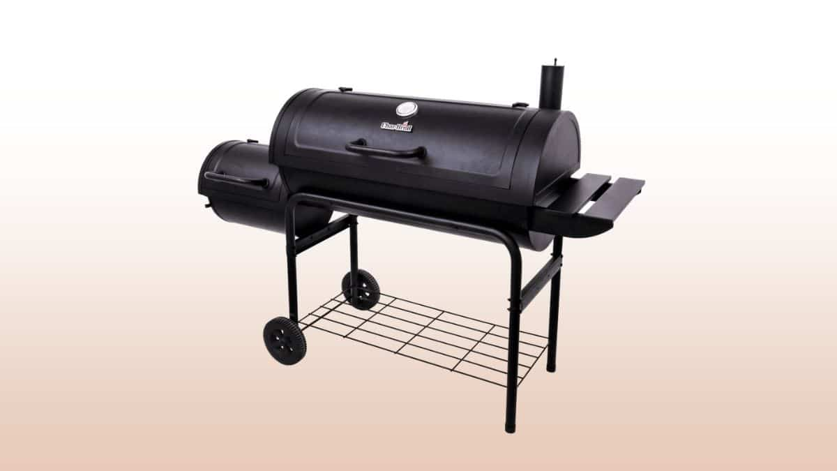 char-broil american gourmet offset smoker isolated