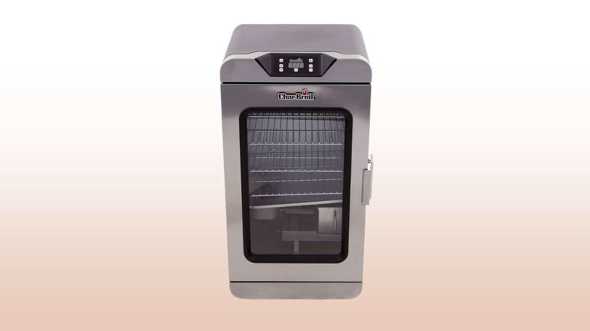 char broil deluxe electric smoker isolated