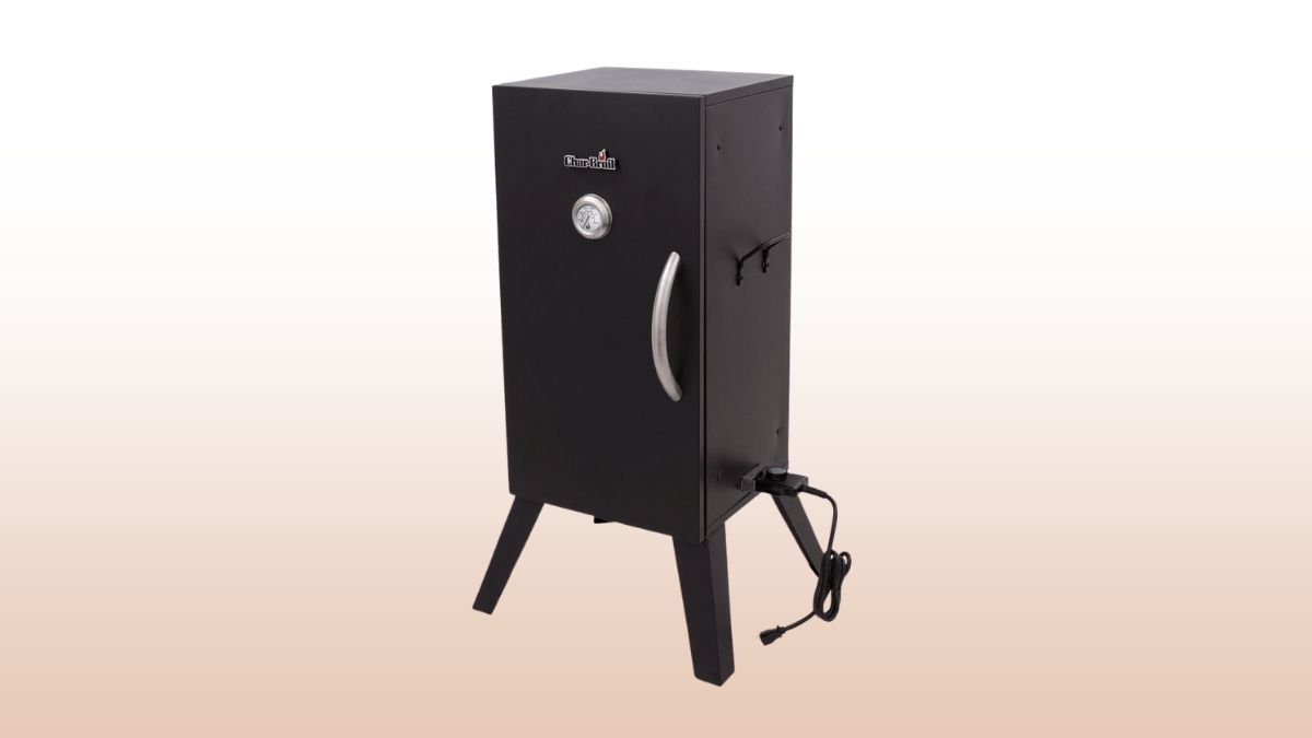 char broil vertical electric smoker isolated