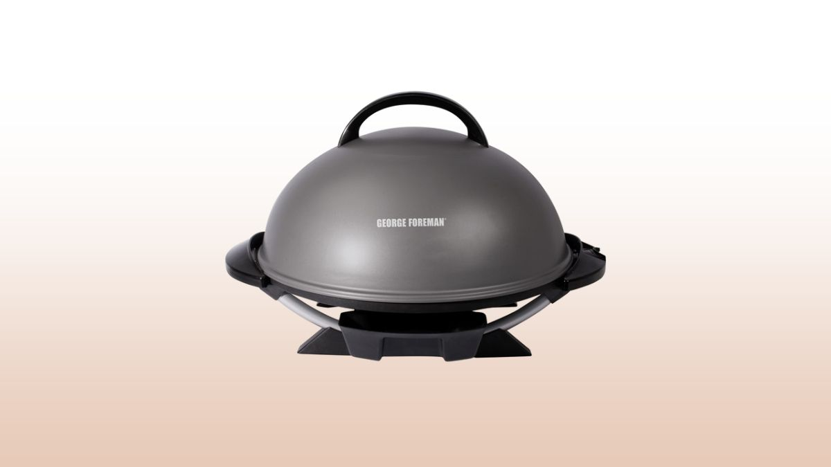george foreman indoor outdoor grill isolated