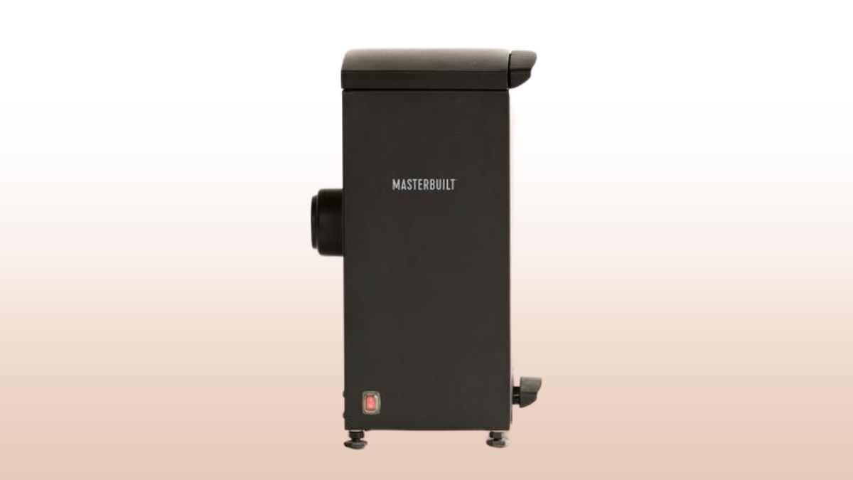 masterbuilt slow cold smoker isolated on beige and white
