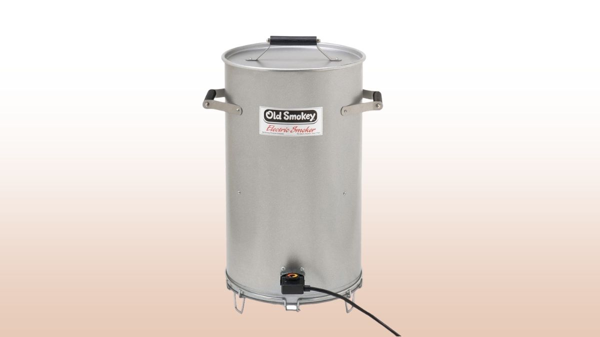 old smokey electric smoker isolated