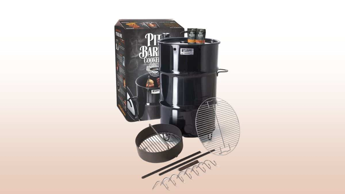 pit barrel cooker isolated