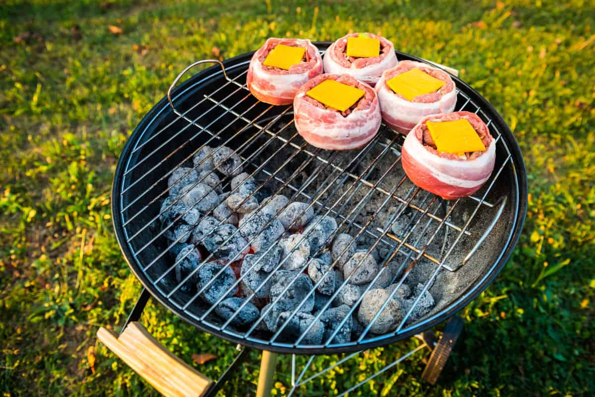 two zone grilling beer can burgers