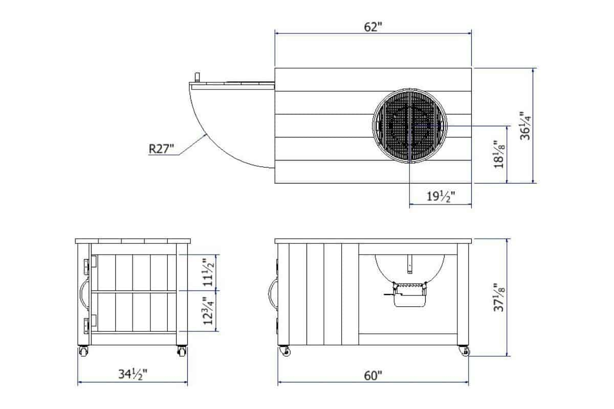 Blueprints for the grill cart build