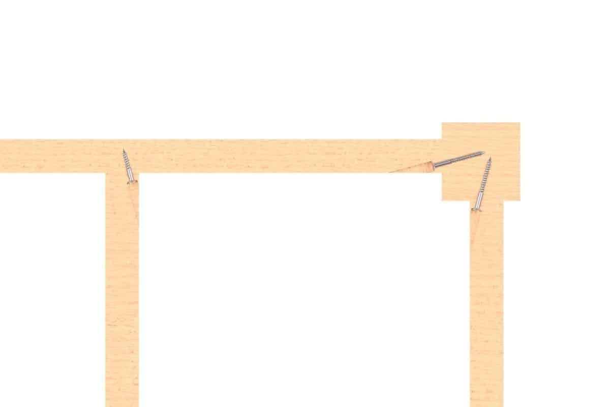 Corner Pocket Screws used to connect corners
