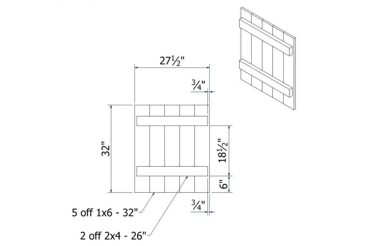 Cupboard Door Drawing