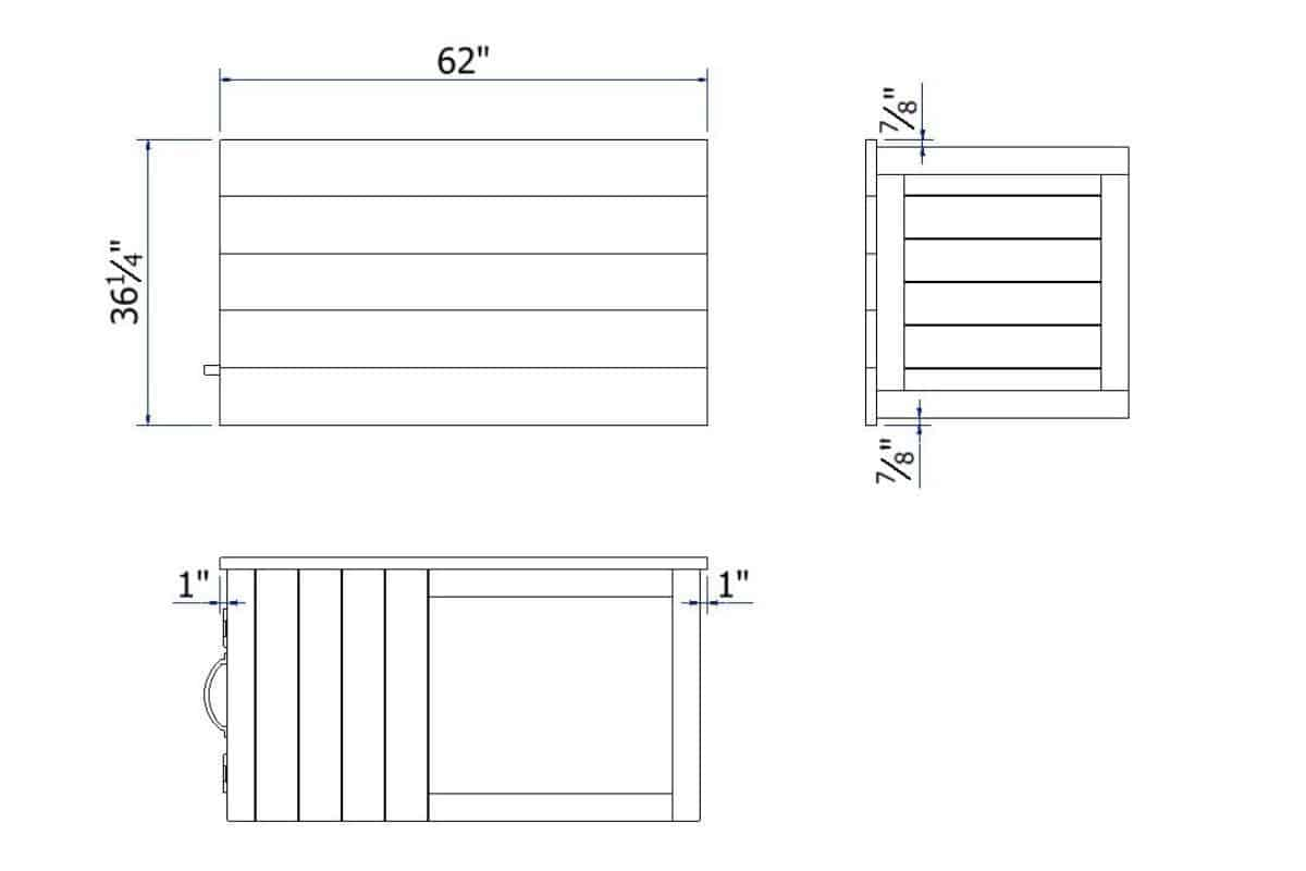 Weber grill cart Worktop blueprints with dimensions