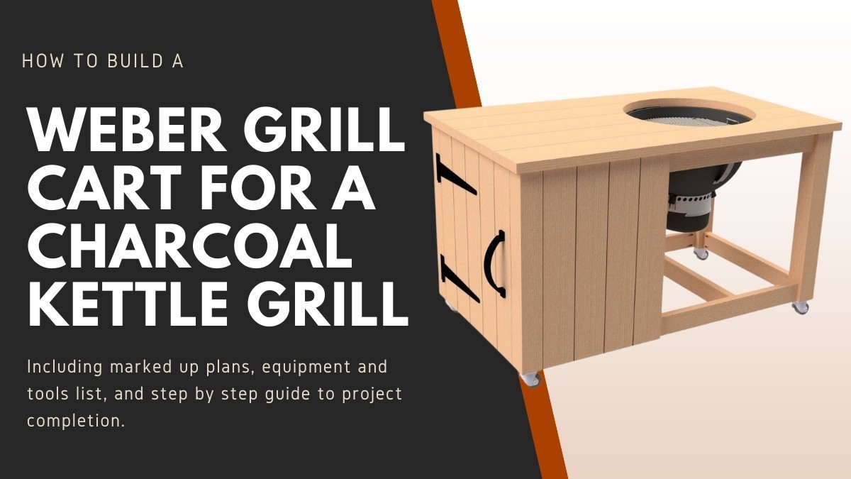 weber grill cart next to text describing the article contents